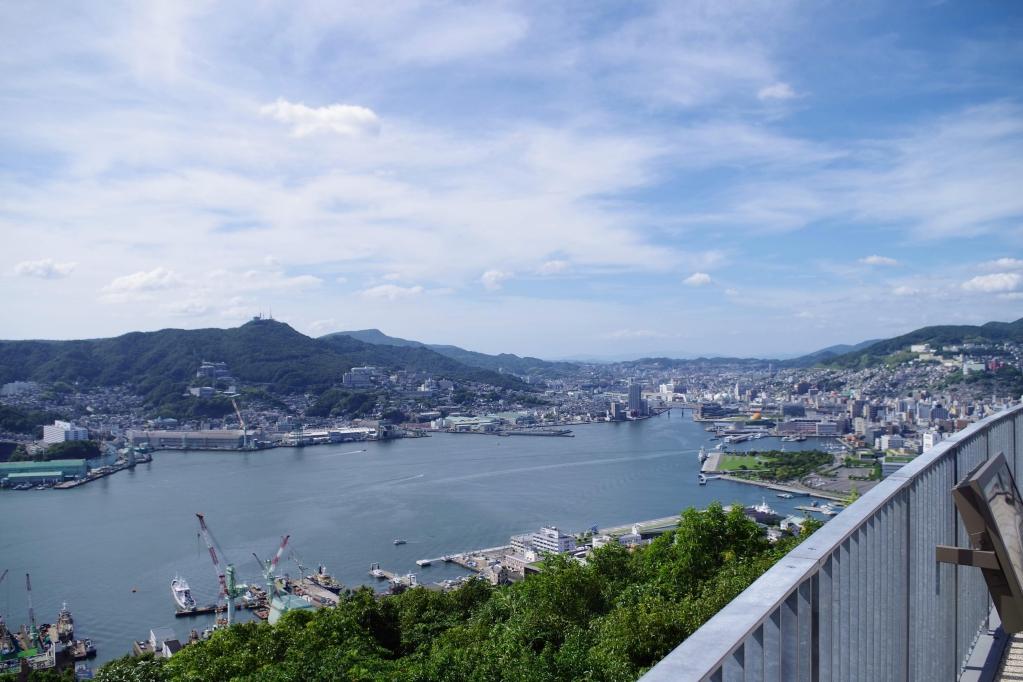 鍋冠山公園展望台からの景色