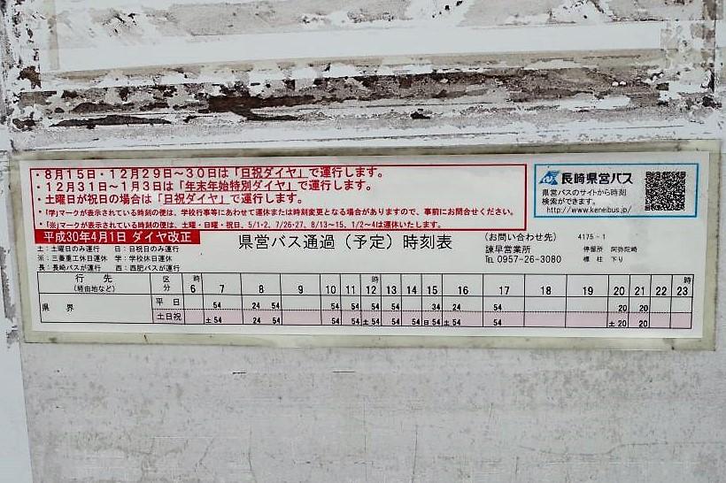 フルーツバス停時刻表
